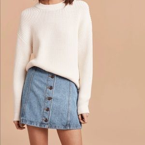 WILFRED FREE | Ahrens Denim Button Down Mini Skirt